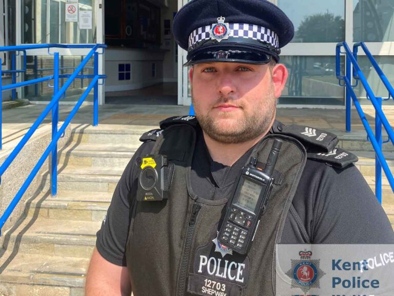 Judge commends Folkestone police officer for pulling arsonist from burning building