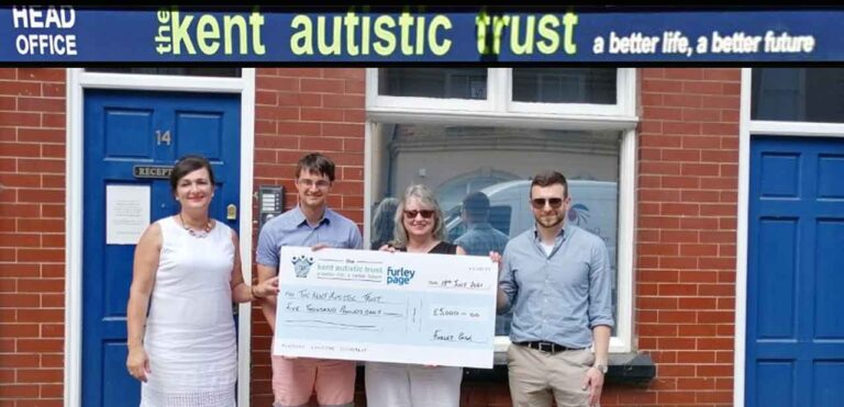 Kent law firm's charity donates £5,000 to support Autistic Trust