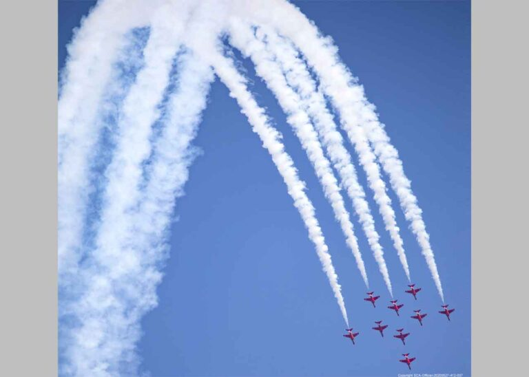 Folkestone Air Show crowd will hold their breath as Red Arrows perform spectacular new Boomerang manoeuvre