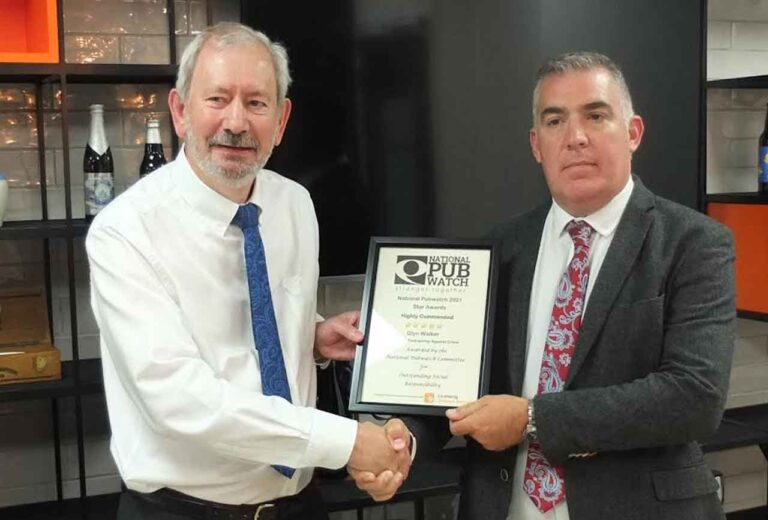 Recognition for Glyn's exemplary work against crime in Ashford