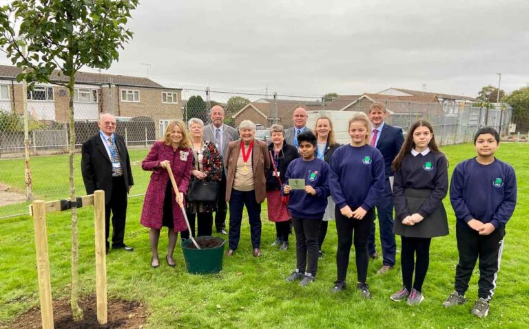 Canterbury school plants 'royal' tree to mark The Queen's Platinum Jubilee